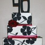 40th birthday applique buttercream cake