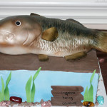 Bass fish groom cake