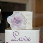 Birch tree gluten free square buttercream wedding cake