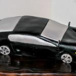 Black sportscar cake