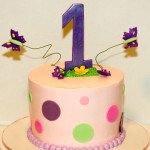 Butterfly first birthday cake
