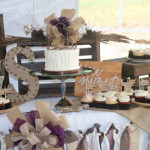 Dessert table rustic wedding cake wedding cupcakes