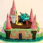 Dragon and princess birthday cake