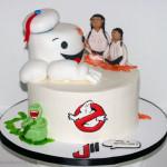 Ghostbusters 80's theme birthday cake
