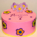 Groovy flowers girl birthday cake