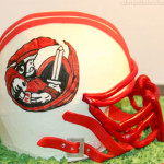 High school football helmet cake