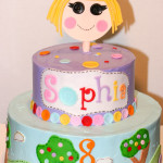 Lalaloopsy girl sewing birthday cake
