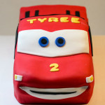 Lightning McQueen car birthday cake