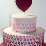 Love music ombre engagement cake