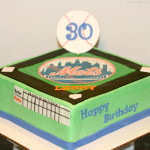 Mets baseball birthday cake
