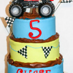 Monster truck Outlaw boy birthday cake