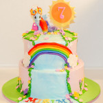 My little pony waterfall girl birthday cake