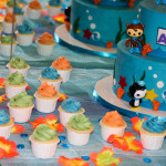 Octonauts birthday cake cupcakes