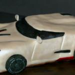 Pearl white sportscar cake
