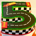 Racing 5 birthday cake