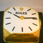 Rolex gold watch birthday cake