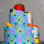 Sewing quilting retirement cake
