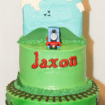 Thomas train third birthday buttercream cake