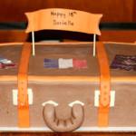 Travel luggage birthday cake