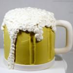 Beer foam mug cake