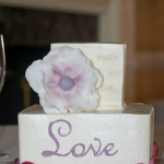 Birch tree gluten free square buttercream wedding cake