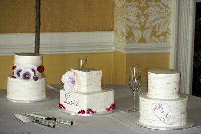 Birch Tree Trio Wedding Cake Cakes Bakes