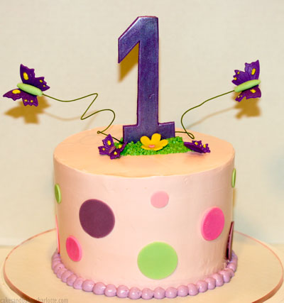 Groovy Butterfly First Birthday Cake Cakes Bakes Personalised Birthday Cards Petedlily Jamesorg