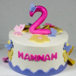 Butterfly purple birthday cake