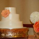 Coral succulent floral buttercream gluten free wedding cake