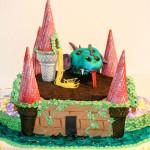 Dragon and princess birthday cake