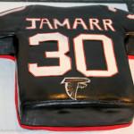 Atlanta Falcons football jersey cake