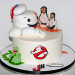 Ghostbusters 80's theme birthday cake