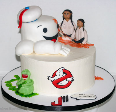 Ghostbusters 80s Birthday Cake