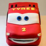 Lightning McQueen car birthday cake