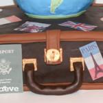 Luggage world travel cake
