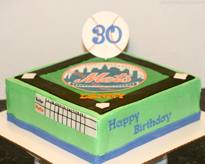 Surprising Mets Baseball Birthday Cake Cakes Bakes Personalised Birthday Cards Epsylily Jamesorg