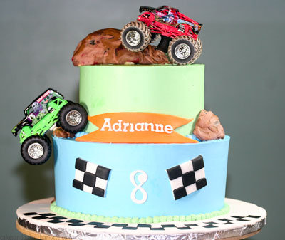 Tremendous Monster Trucks Birthday Cake Cakes Bakes Funny Birthday Cards Online Elaedamsfinfo