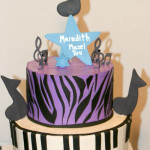 Music Bat Mitzvah piano zebra cake