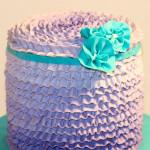 Purple ruffles smash birthday cake