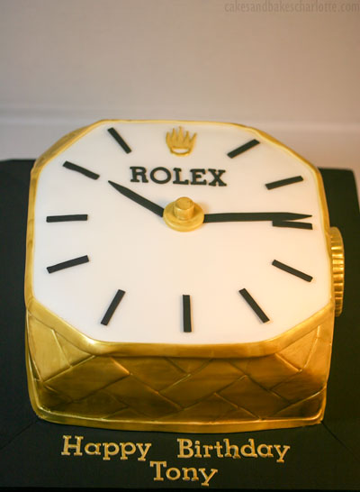 Cool Rolex Watch Birthday Cake Cakes Bakes Personalised Birthday Cards Arneslily Jamesorg