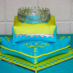 Royal prince crown boy baby shower pillow cake