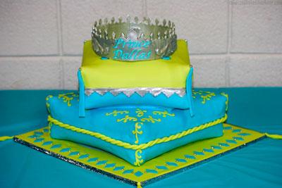 Royal Prince Crown Boy Baby Shower Pillow Cake