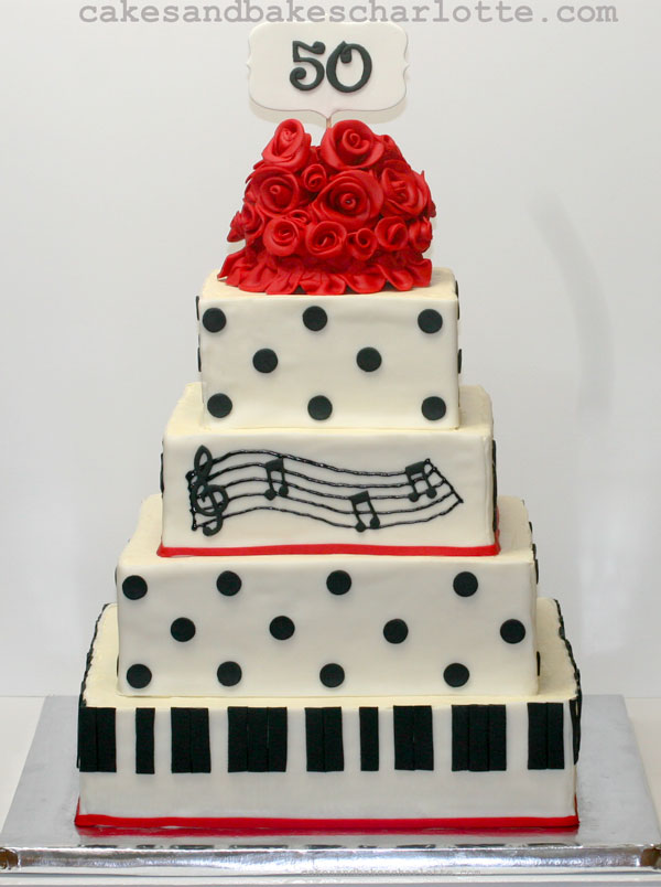 Black And White Th Birthday Cake
