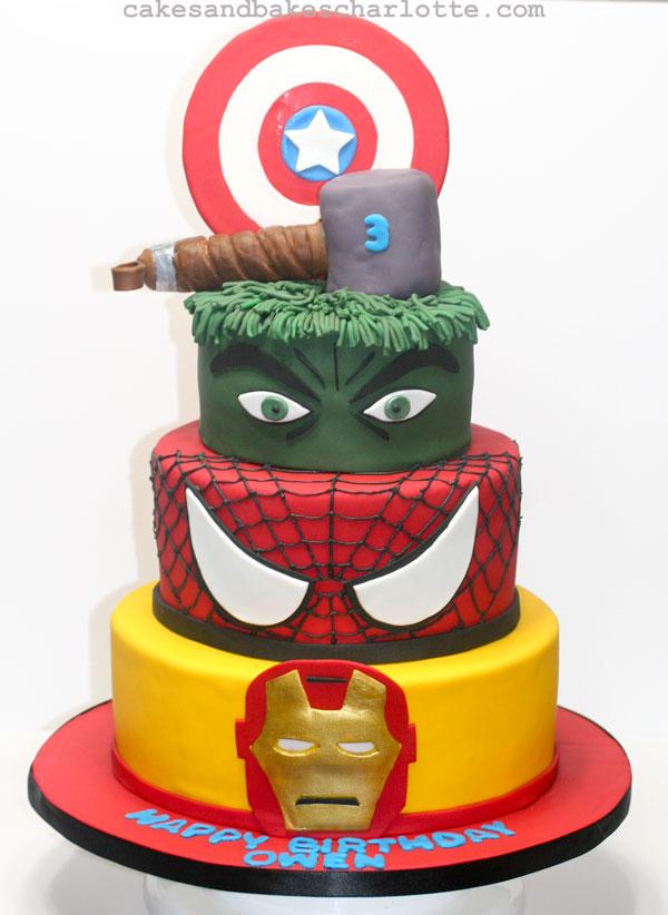 Captain America Cake Children S Cakes