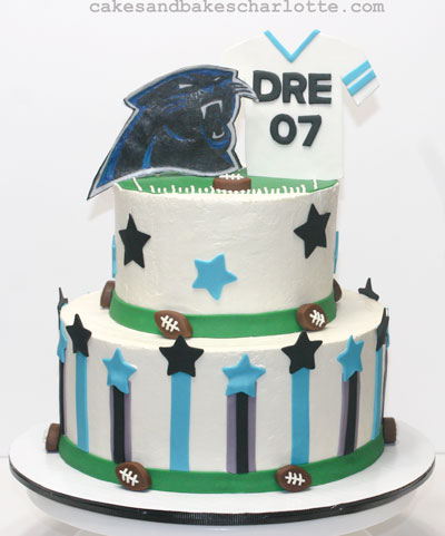 Carolina-Panthers-football-sport-theme-birthday-cake – Cakes & Bakes