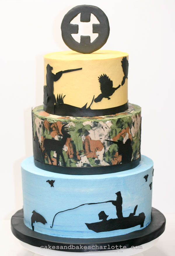 Awesome Hunting Fishing Theme 50Th Birthday Camouflage Cake Cakes Bakes Birthday Cards Printable Opercafe Filternl